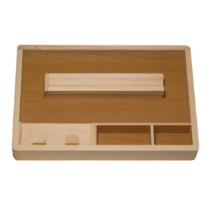CSB Wooden Rolling Tray L